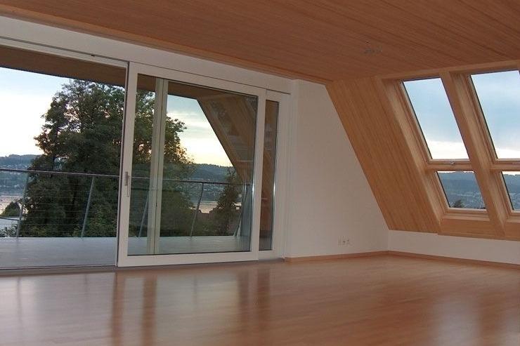 Aussicht aus der neuen Dachwohnung