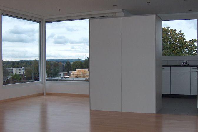 Eckfenster innenansicht  Mehrfamilien- und Gewerbehaus Hochfelderstrasse, Bülach - Markus ...