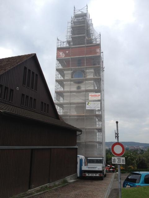 Gerüst bis Turmkugel