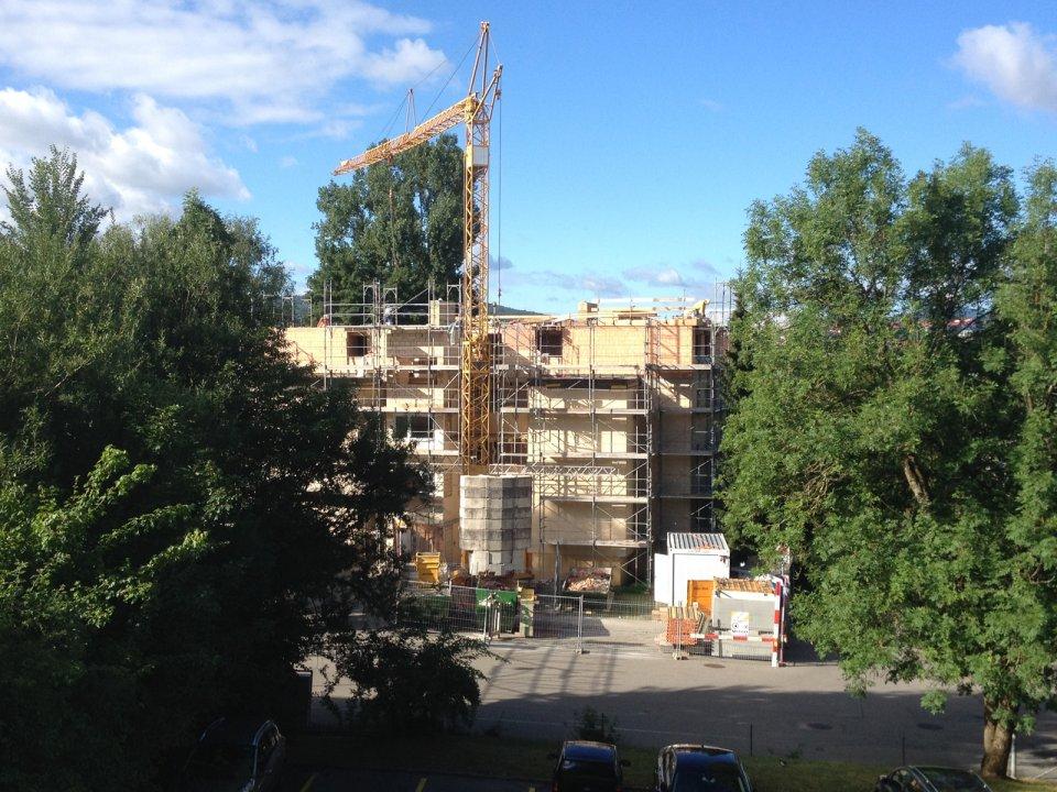 Während dem Umbau und der Aufstockung