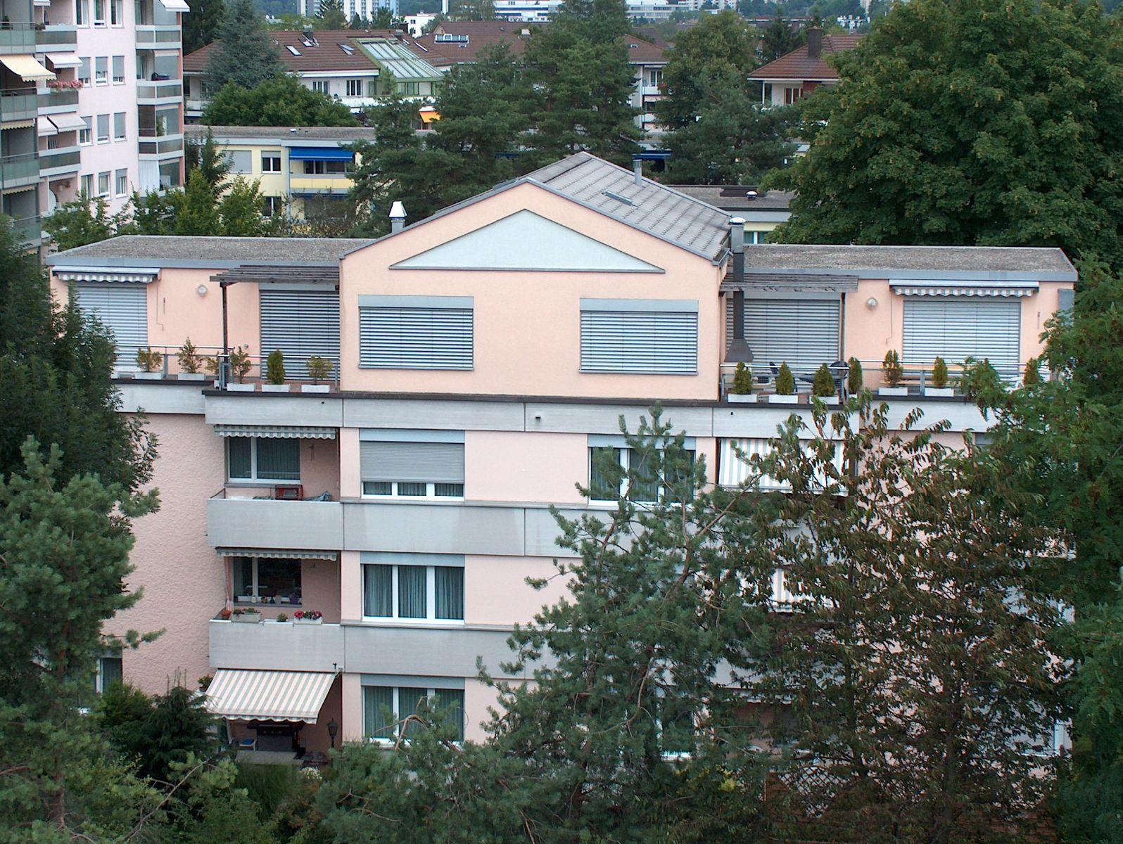 Blick auf Dachwohnung